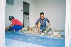 Thailand tile laying