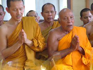 Thai Head Monk leads prayers